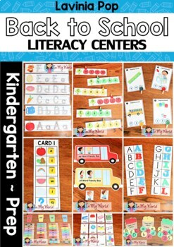 Back to School Literacy Centers for Kindergarten
