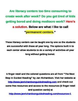 Literacy Centers - Buddy Reading