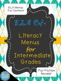 Literacy Centers CAFE Fiction Menus For Intermediate Grades