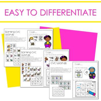 Literacy Centers:  CVC Word Families