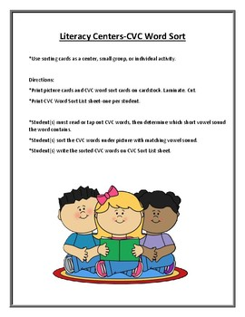 Literacy Centers: CVC Words