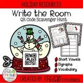 Literacy Centers - Christmas Themed QR Code Scavenger Hunt