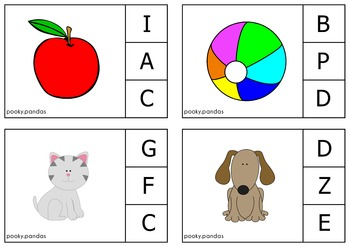 Literacy Centers Clip-cards