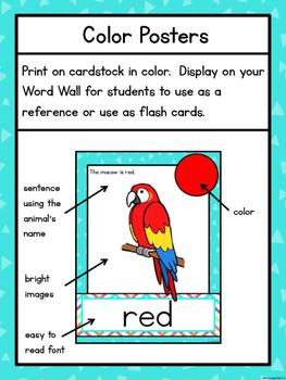 Color Words: Animals
