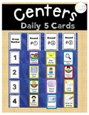 Literacy Centers Daily 5 Cards