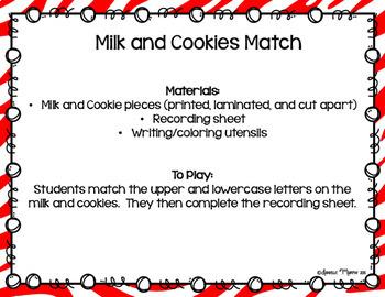 December Kindergarten Literacy Centers