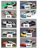 NASCAR Sight Words Literacy Centers: Dolch Sight Words Race Car Theme