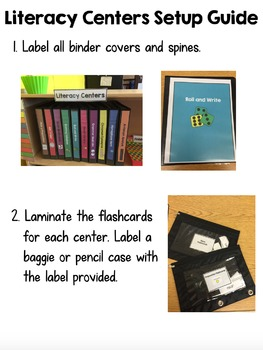 Literacy Centers First and Second Grade