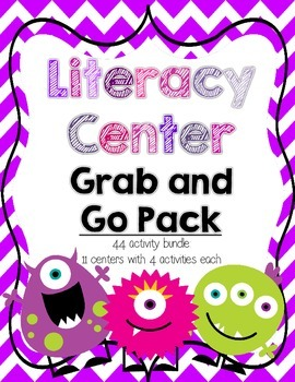 Literacy Centers Grab and Go Mega Pack