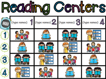 Literacy Centers & Guided Math Rotation Boards (PowerPoint and Printable)