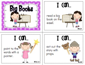 """Literacy Centers """"I Can"""" Cards {Common Core Aligned}"""
