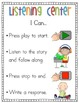 "Literacy Centers ""I Can"" Posters (Bilingual)"