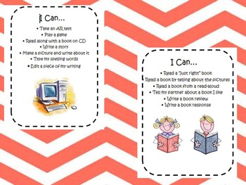 Literacy Centers.. I can sheets