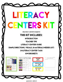Literacy Centers Kit