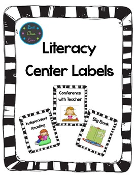 Literacy Centers, Math & More: Labels Growing Package!