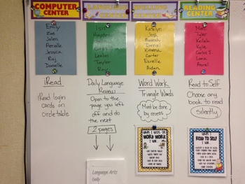 Literacy Centers Labels