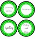 Literacy Centers Labels~ Lime