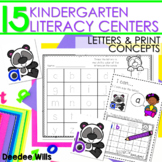 Literacy Centers:  Letters and Print Concepts