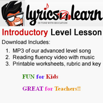 Literacy Centers   Lollie's Loves Lesson by Lyrics2Learn