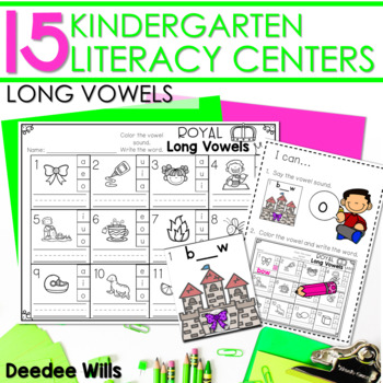 Literacy Centers:  Long Vowels
