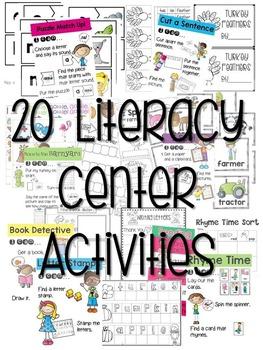 Kindergarten Literacy Centers Made Easy Unit 3