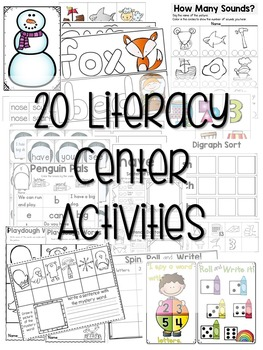 Kindergarten Literacy Centers Made Easy Unit 5 {January}