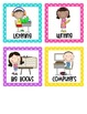Literacy Centers Management Board {Polka Dots}