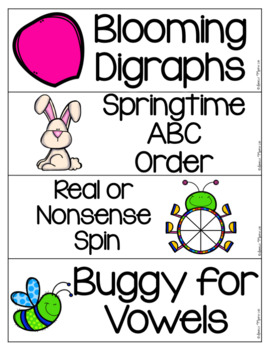 May Kindergarten Literacy Centers