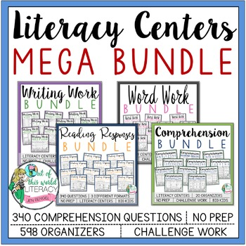 Literacy Centers Mega Bundle: Get 12 Sets FREE!