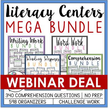 Literacy Centers Mega Bundle  *** WEBINAR EXCLUSIVE DEAL