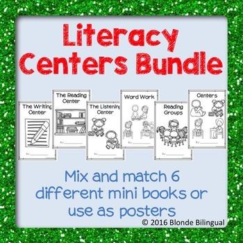 Literacy Centers Mini Books Bundle