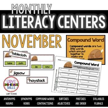 Literacy Centers- NOVEMBER