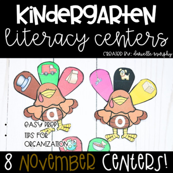 November Kindergarten Literacy Centers