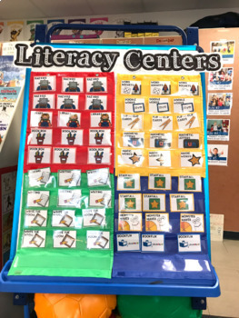 Literacy Centers Organization Kit .  59 Options . Simple Management . FUN!