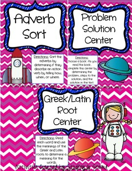 Literacy Centers Pack- Adverbs, Problem Solution, Greek &