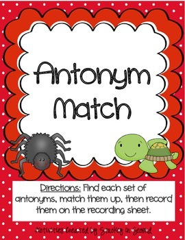 Literacy Centers Pack-Antonyms, Proper & Common, Concrete & Abstract Nouns 2-1