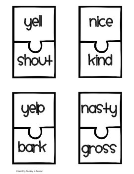 Literacy Centers Pack- Contractions, Synonyms, Nouns & Verbs 3-1