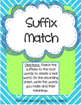 Literacy Centers Pack- Suffixes, Combining Sentences, Sequencing 3-5