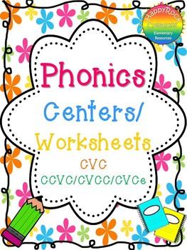 Literacy Centers - Phonics CVC and CCVC