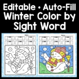 Sight Word Coloring Sheets for Winter {8 pages!} Color by Sight Word for Winter