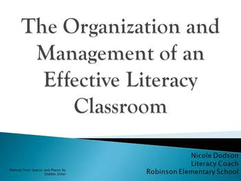 Literacy Centers Powerpoint