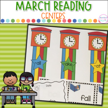 March Literacy Centers- March Into Reading