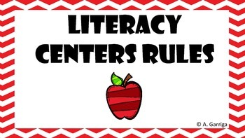 Literacy Centers Rules