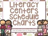 Literacy Centers Schedule Chart