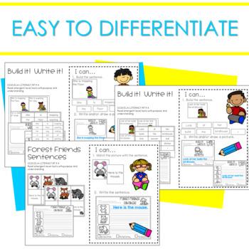 Literacy Centers:  Sentences