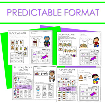 Literacy Centers:  Short Vowels