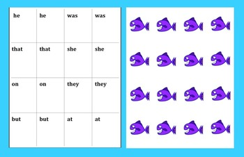 """Sight Word Games  """"Go Fish"""" and """"Memory"""" Sets 3 & 4"""