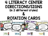 Literacy Centers Signs & Rotation Cards