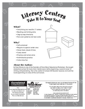 Literacy Centers, Take It to Your Seat, Grades 1-3