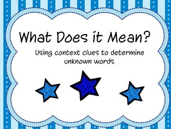 Literacy Centers- Using Context Clues